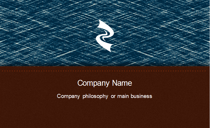 Jeans Creative Business Card Back