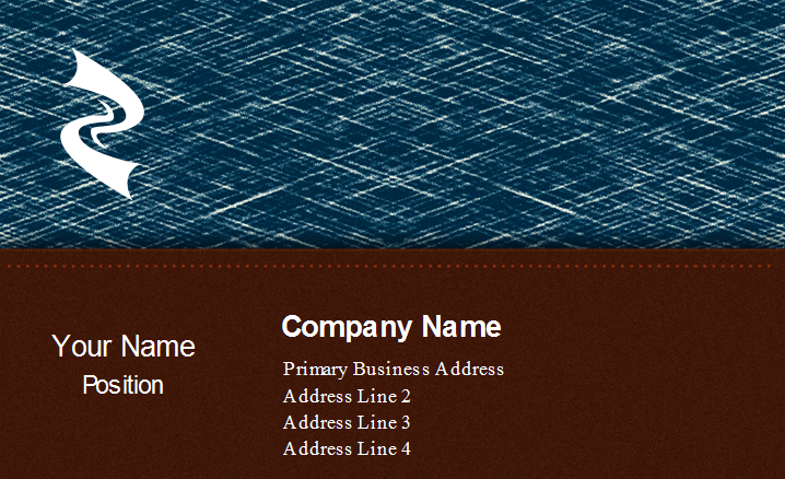 Metal Texture Business Card Back