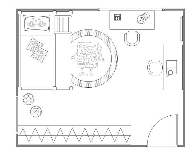 How To Create House Electrical Plan Easily With Regard To: Free Kids Bedroom Layout Templates