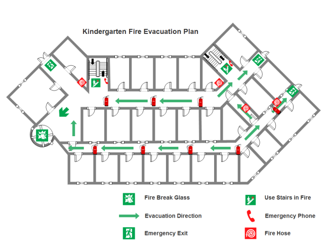Kindergarten Fire Evacuation Plan Templates