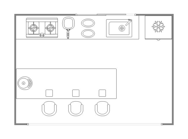 Kitchenette Plan | Free Kitchenette Plan Templates
