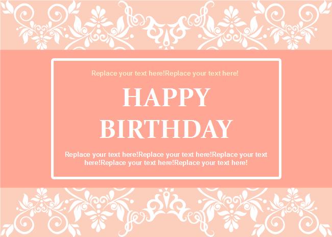 Lace Decoration Birthday Card