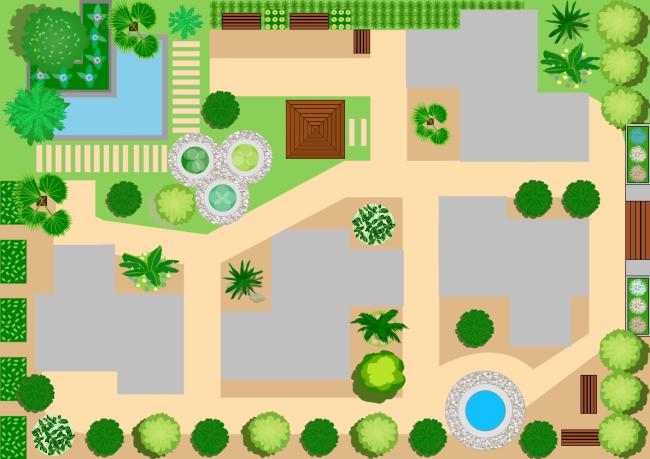 Landscape design free landscape design templates for Visio garden template