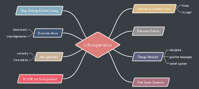 Life Experience Mind Map