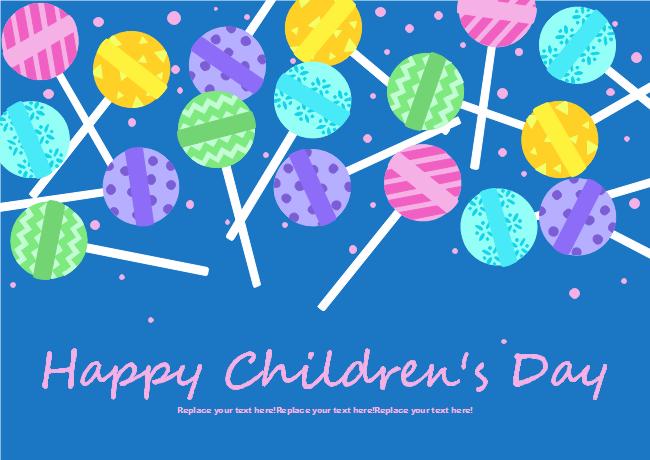 Lolipops Children's Day Card