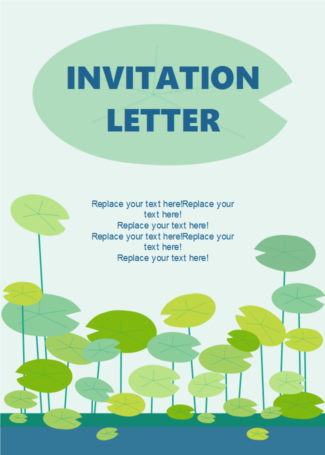 Free Lotus Invitation Card Templates