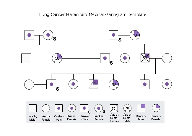 Lung Cancer Medical Genogram