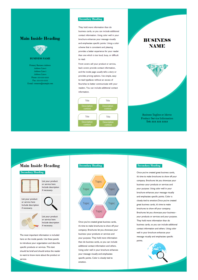 Marketing brochure free marketing brochure templates for Free product brochure template