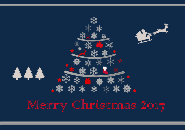 merry christmas card 2017