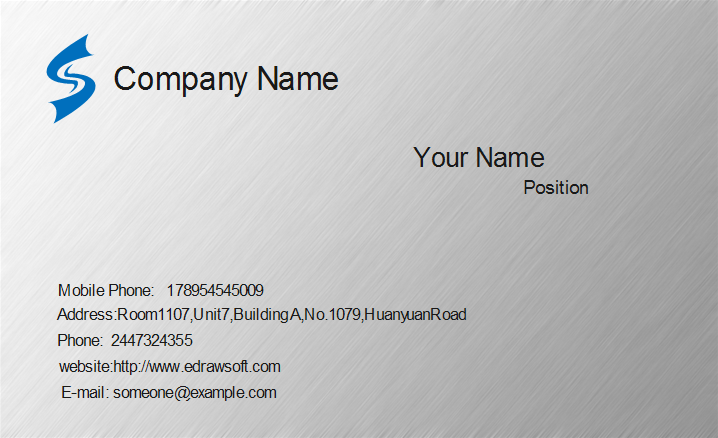 Metal Texture Business Card Template