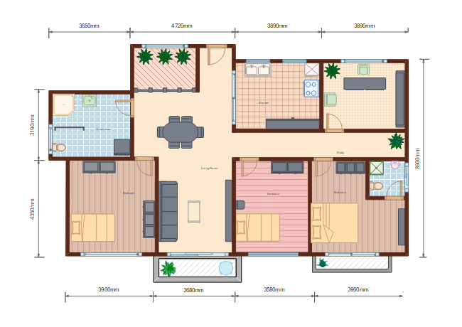 Middle Size Home Plan