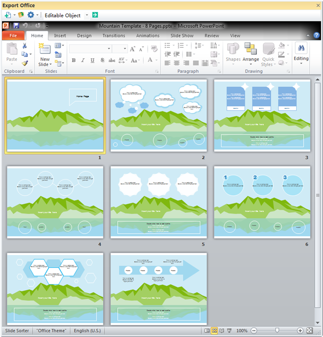 Moutain Theme PPT