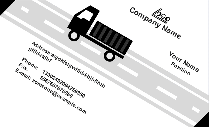 Moving Company Business Card Front