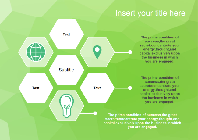 Multiple Hexagons PowerPoint