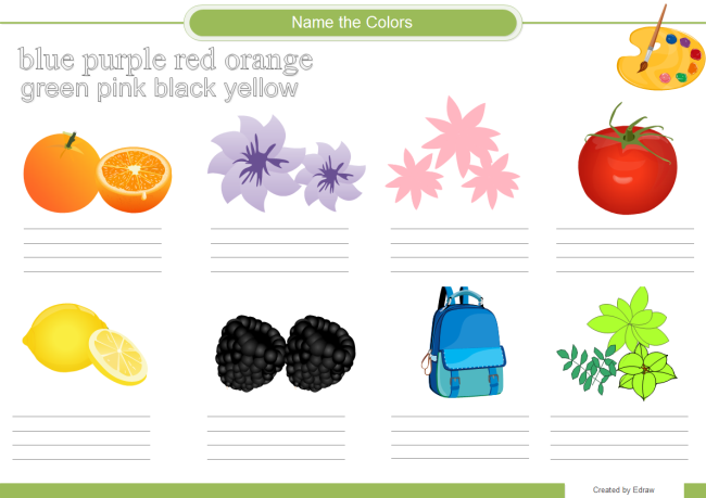 Name Color Worksheet