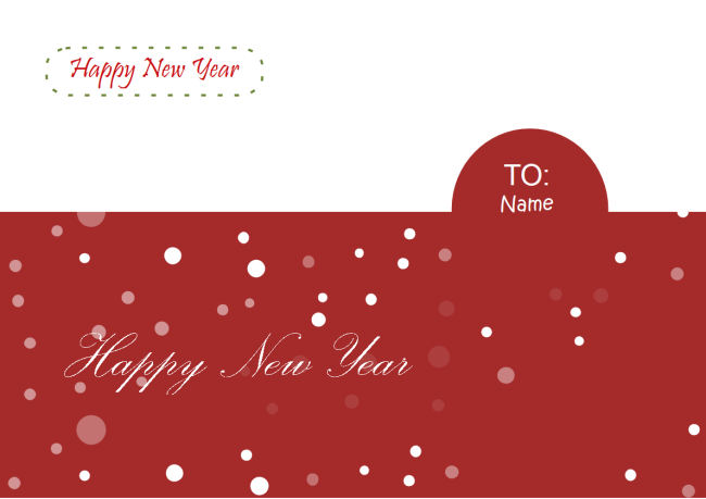 new year card examples and templates