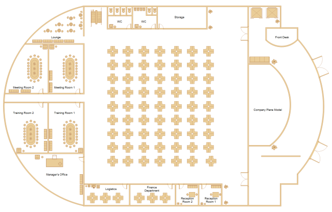 Office layout examples and templates for Office floor plan samples