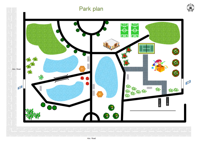 Park plan free park plan templates for Visio garden template