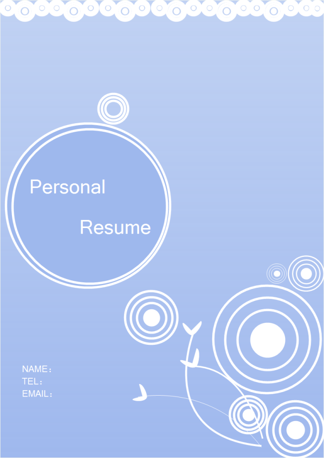 resume cover template