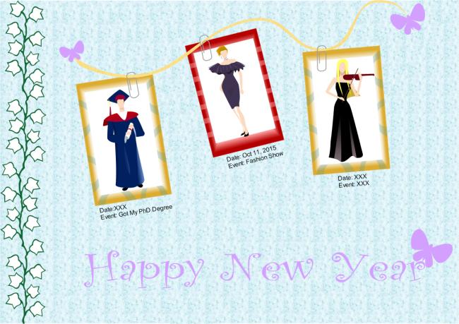 Carte de nouvelle année avec photo