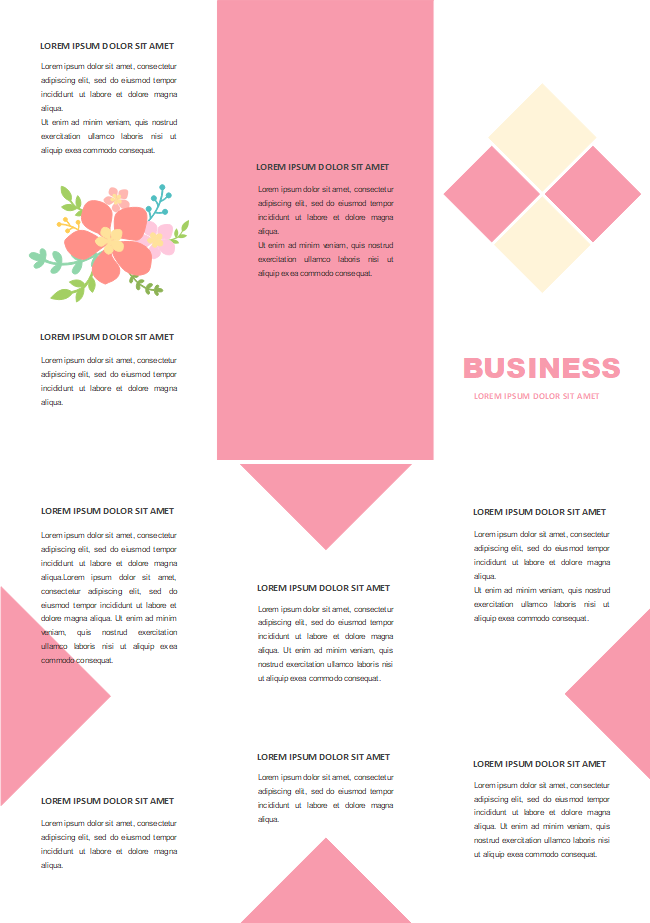 pink simple brochure free pink simple brochure templates
