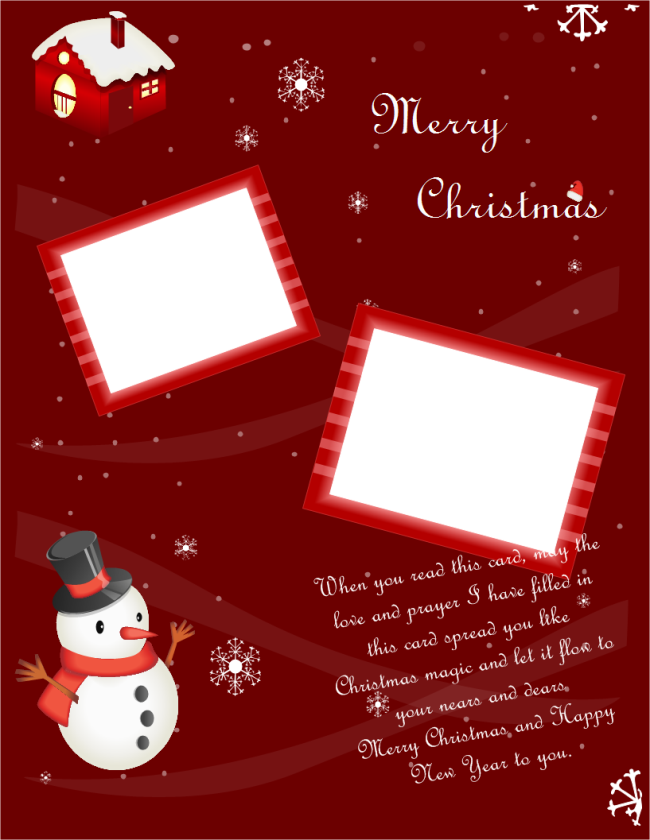 Portrait Christmas Card | Free Portrait Christmas Card Templates