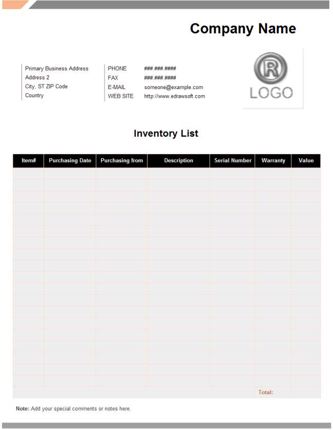 Inventory List · Product Inventory List, Inventory List Form  Inventory List Form