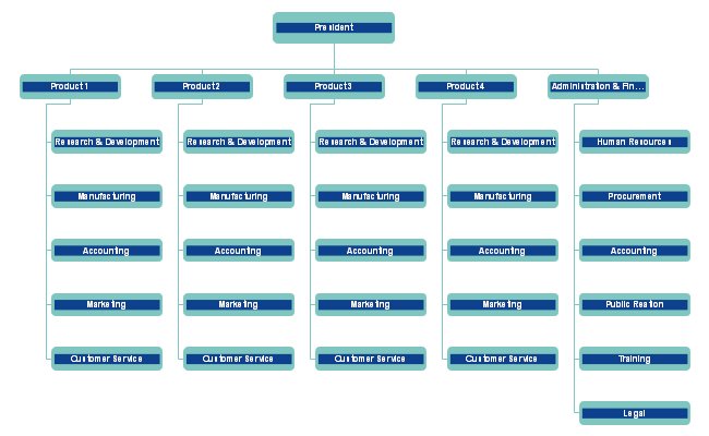 Product Line Divisional Org Chart