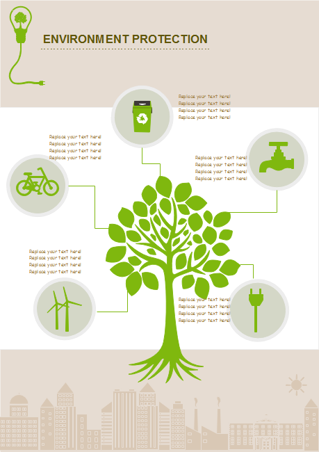 Infographic examples free to download and reuse for Environmental protection plan template