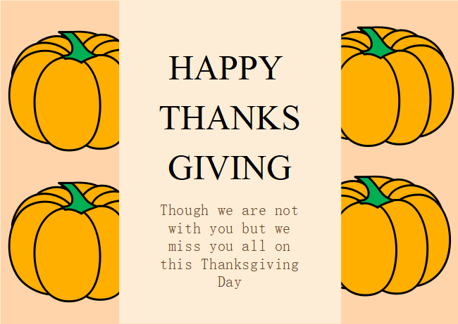 Pumpkin Thanksgiving Card