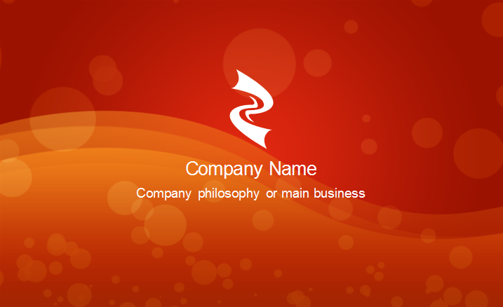 Red Passion Business Card Template Back