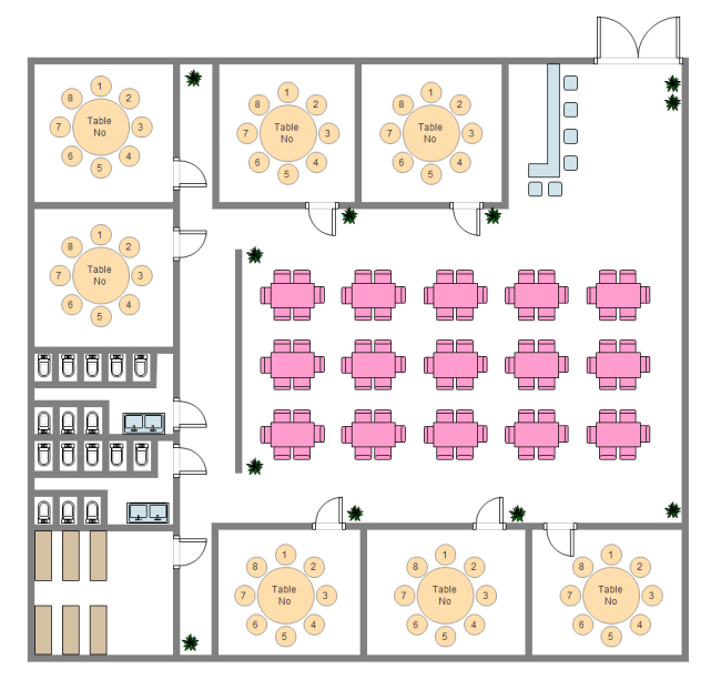 Restaurant Seating Layout : Restaurant seating chart free