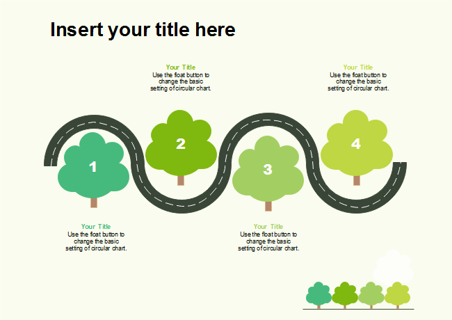 Road With Four Trees 2D Presentation   Free Road With Four Trees 2D