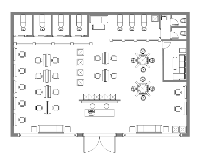 Salon design floor plan free salon design floor plan for Design a beauty salon floor plan