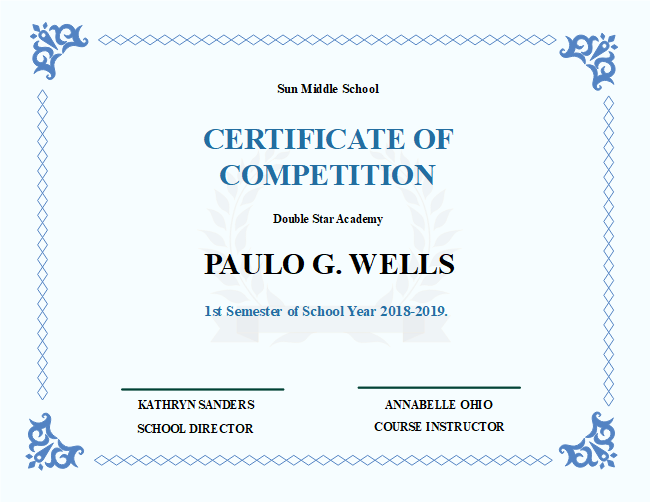 school competition certificate free school competition