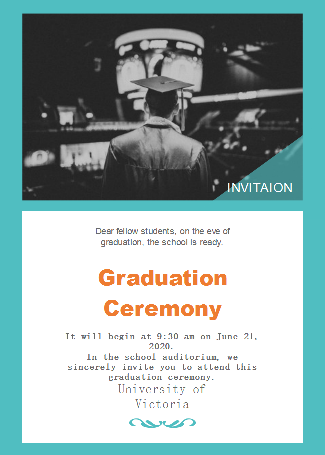 School Graduation Ceremony Invitation