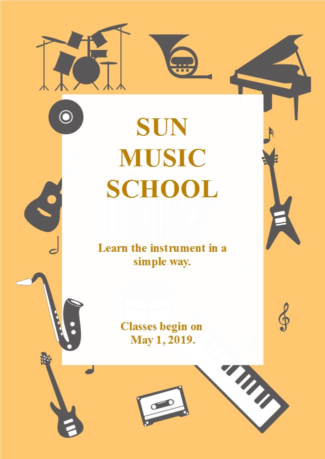 School Musical Activity Flyer