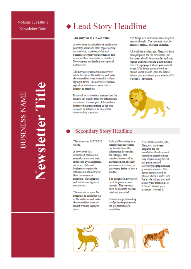 School Newsletter Free School Newsletter Templates