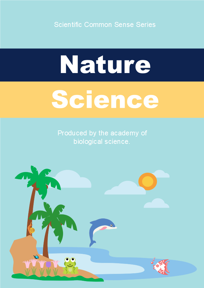 School Science Book Cover