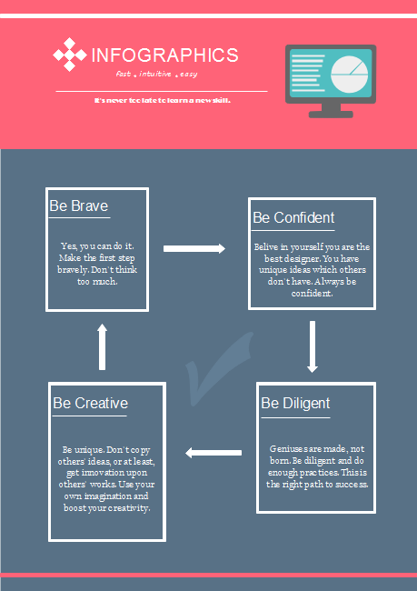 Self Improvement Infographics Template
