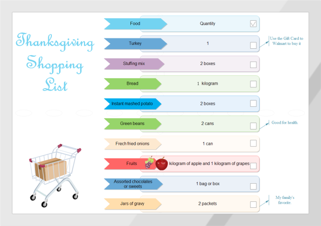 Shopping List  Free Shopping List Template