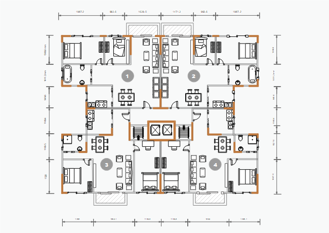 free simple apartment floor plan templates