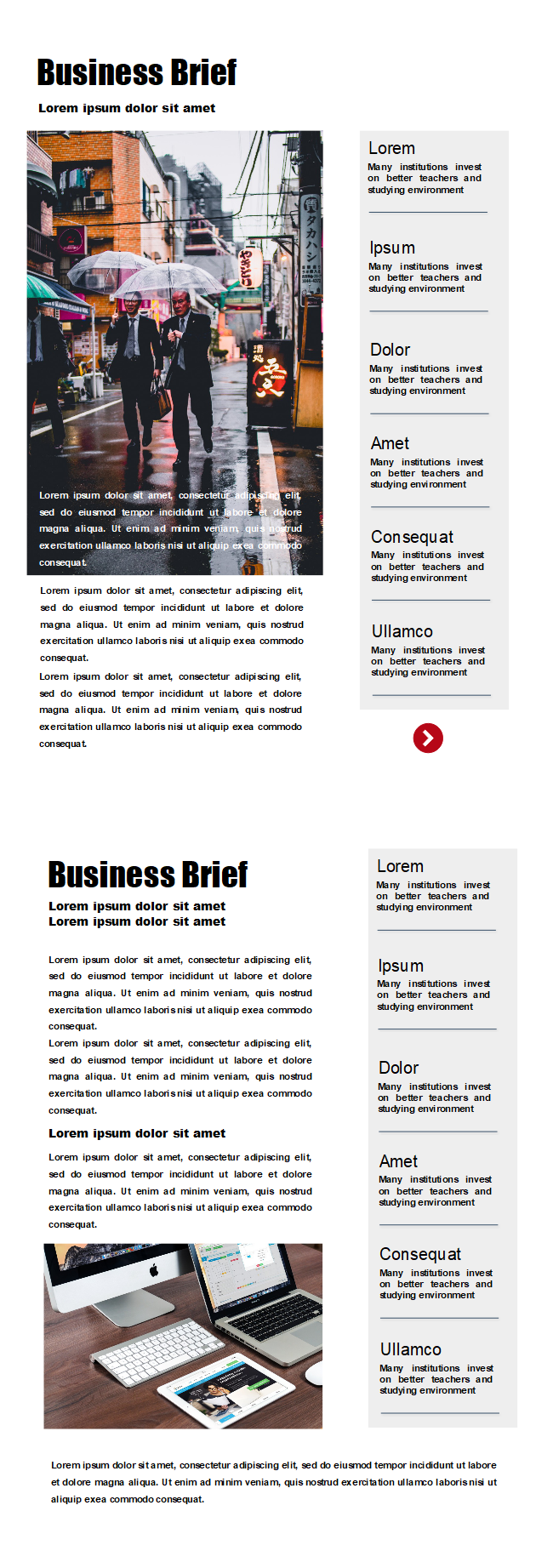 free simple business newsletter templates