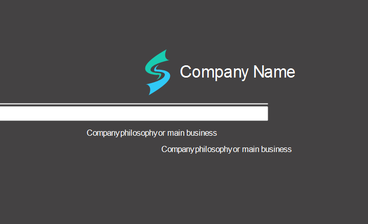 Simple Concept Business Card Template Back