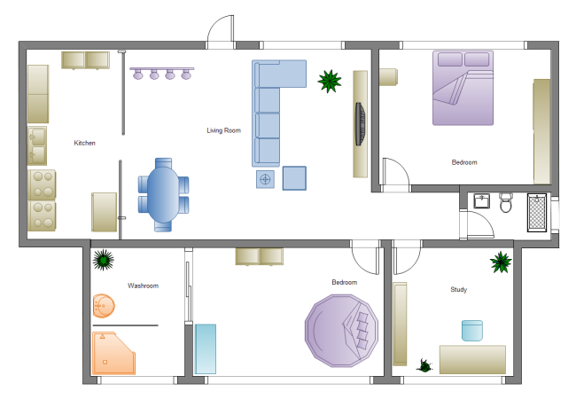 Home Plan Examples and Templates – Visio Home Plan Template Download