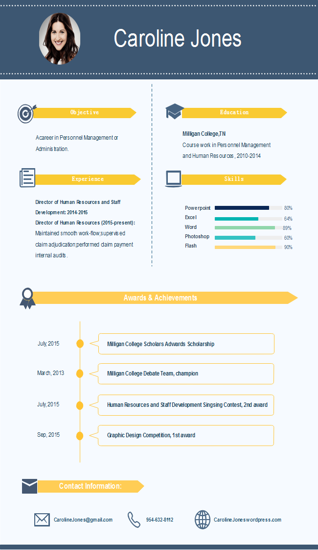 Simple resume infographic
