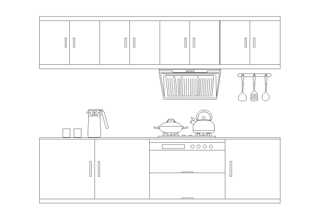 Elevation Plan Template : Simple kitchen elevation design free