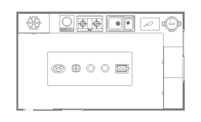 Template Simple Kitchen Layout on business office floor plans