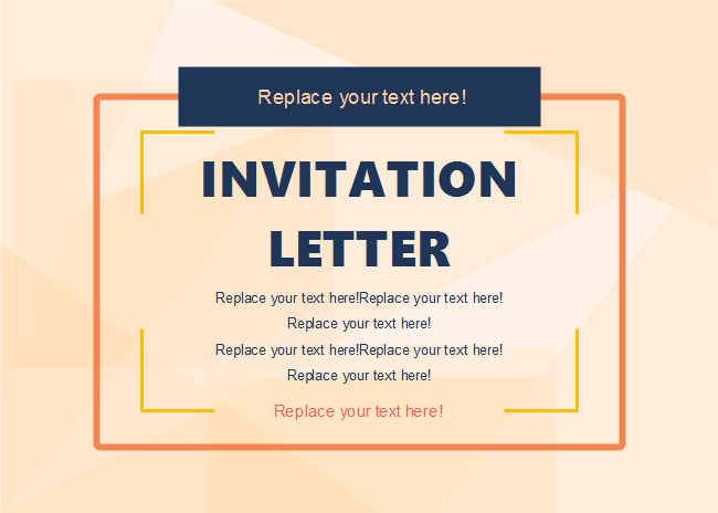 Free Simple Style Invitation Card Templates