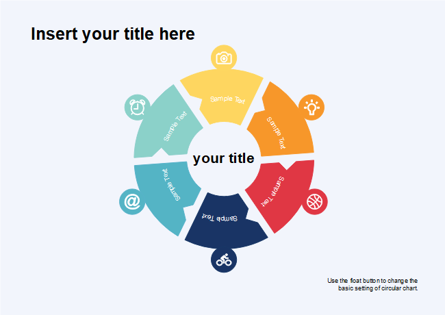 free six segments circle diagram template